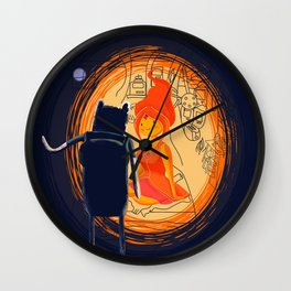 Love Flame Wall Clock