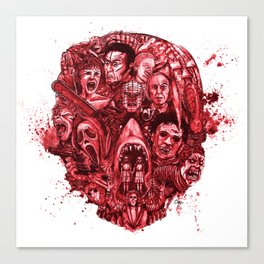 The Essence of Horror [Red] Canvas Print