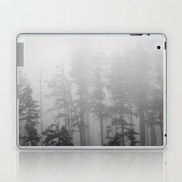 Foggy Forest Chinook Washington Grey Photography Print Misty Northwest Laptop & iPad Skin