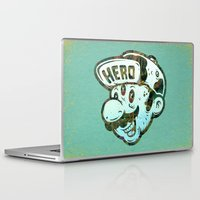 super hero Laptop & iPad Skins featuring Hero by Beery Method