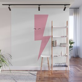 Pink Thunderbolt Wall Mural