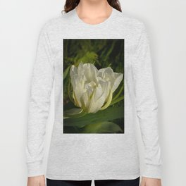 Double White Tulip by Teresa Thompson Long Sleeve T-shirt
