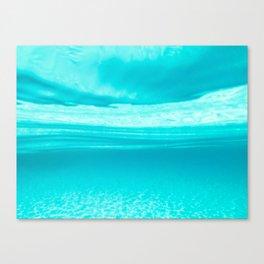 Underwater blues Canvas Print
