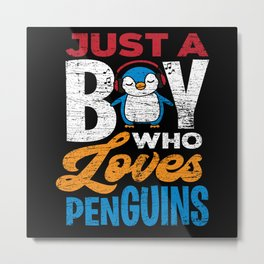 Penguin boy Metal Print