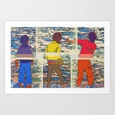 Jumping Stones Art Print