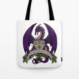Clan Stonefire Crest - Purple Dragon Tote Bag