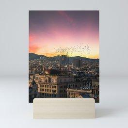View to Sagrada Familia Mini Art Print