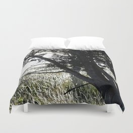 Grass Glowing Beneath A Tree Duvet Cover
