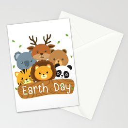 Earth Day For Kids Love Animals Stationery Cards