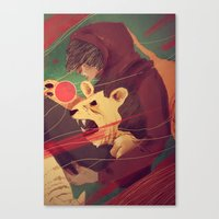 courage Canvas Prints featuring Courage by James M. Fenner