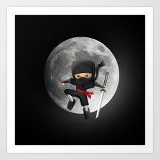 Midnight Ninja Art Print