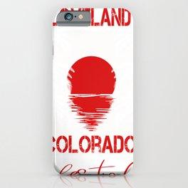 Loveland Colorado lifestyle Retro Custom Funny iPhone Case