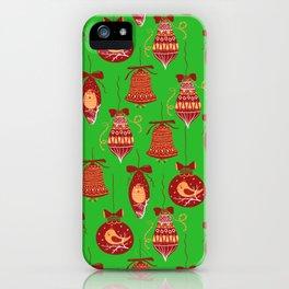 jingle bells pattern iPhone Case