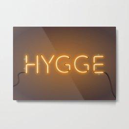 HYGGE - orange Metal Print