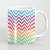 gumball Mugs featuring Gumball Chevron by Wicked Cool Studio