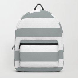 Gray Grey White Stripe Line Bold Stripes Lines Backpack