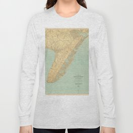 Vintage Map of Cape May NJ (1888) Long Sleeve T-shirt