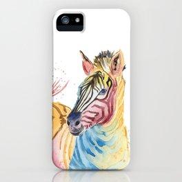 Colorful Zebra iPhone Case