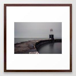 North Street Beach Framed Art Print