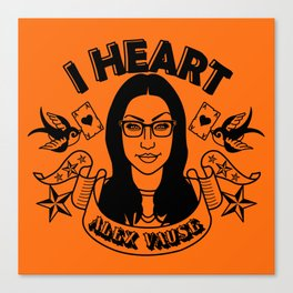 I heart Alex Vause Orange - OITNB inspired Canvas Print