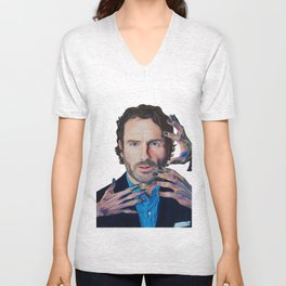 ANDREW LINCOLN aka 'RICK GRIMES'2015 71cm x 49cm Prismacolor & Mixed Media Unisex V-Neck