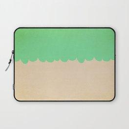 A Single Mint Scallop Laptop Sleeve