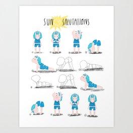 Yoga with a Unicorn Art Print