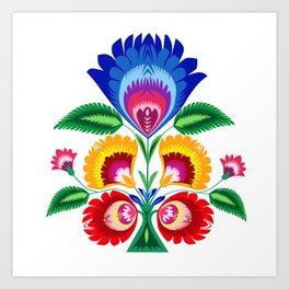 folk flower Art Print