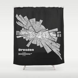 Dresden Map Shower Curtain