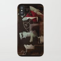 noir iPhone & iPod Cases featuring noir by michael lombardi