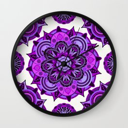 Crown Chakra Mandala Wall Clock