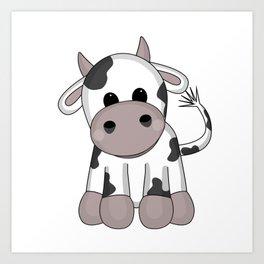 Cuddly Cow Art Print