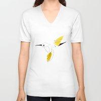 hummingbird V-neck T-shirts featuring Hummingbird by Steph Dillon