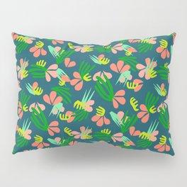 Henri's Garden in blue // tropical flora pattern Pillow Sham