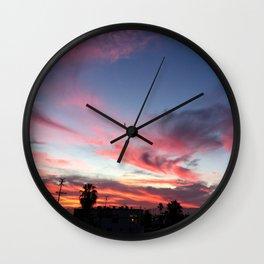 Summer Sunset Sky Wall Clock