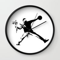 banksy Wall Clocks featuring #TheJumpmanSeries, Banksy by @thepeteyrich