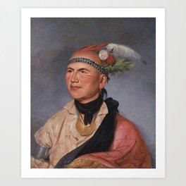 Mohawk Chief , Joseph Brant Art Print
