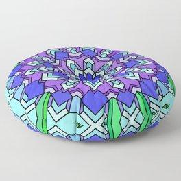 Kaleidoscope of Cool Colors Floor Pillow