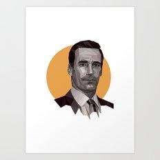 Polygon Don Draper - bot Art Print