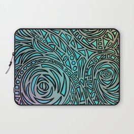 How the river flows - Zentangle Art Laptop Sleeve