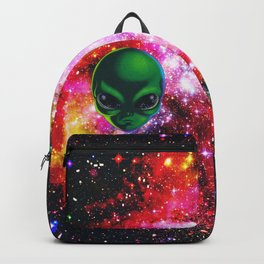 Alien Space - Space Alien Illustration Backpack