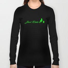 Just Ride Horse Ladies Racerback Tank Top Barrel Racing Horse T-Shirts Long Sleeve T-shirt