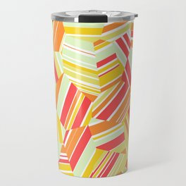 Pacific Beach - Voronoi Stripes Travel Mug