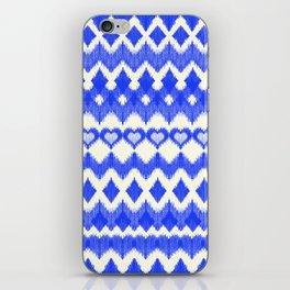 Ikat Pattern in Cobalt Blue & White iPhone Skin