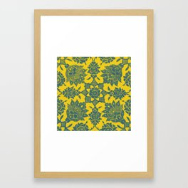An Ottoman Iznik style floral design pottery polychrome, by Adam Asar, No 13n Framed Art Print