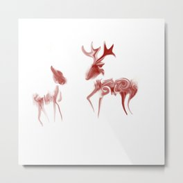 Java Deer Metal Print