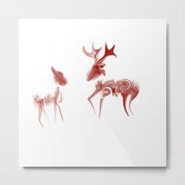 Java Deer Metal Print