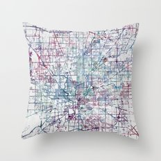 Indianapolis map Throw Pillow