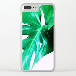 Cheese Plant Leaves Clear iPhone Case