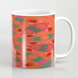 Succulent Red and Yellow Flower Abstract 2 Coffee Mug